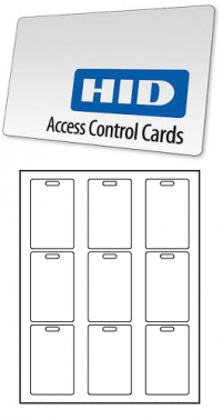 HID card Labels 10 sheets 90 Labels - Product Image