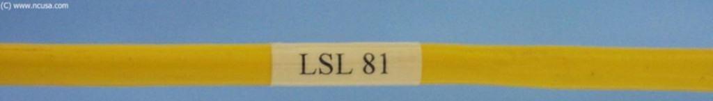Cbale labels LSL 81