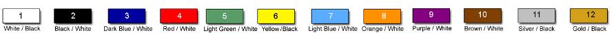 colors chart engraved labels 65
