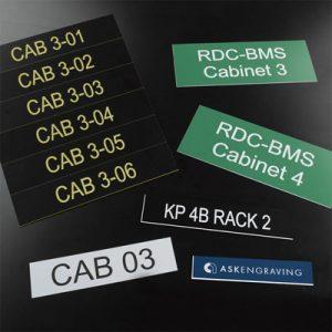Engraved Cabinet Labels