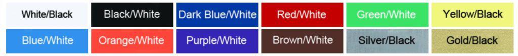 Engraved labels color